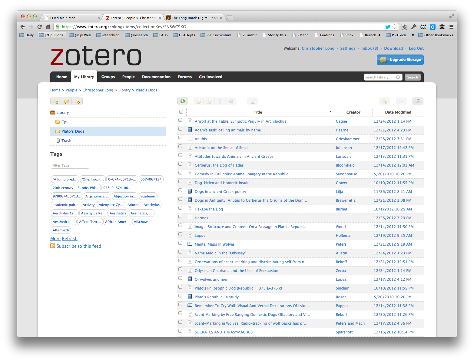 Research Cycle Returns To Zotero Christopher P Long