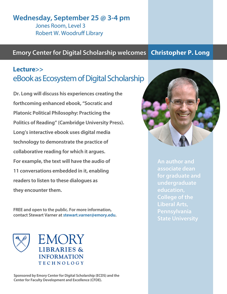 Socrates, Plato and Digital Scholarship at #ECDS